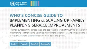 WHO Concise Guide to Implementing and Scaling up FP Service Improvements