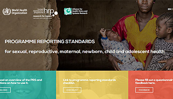 WHO's Programme Reporting Standards for sexual, reproductive, maternal, newborn, child and adolescent health